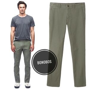 Bonobos Olive Green Tailored Cotton Chinos